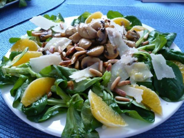 Feldsalat mit Honig - Chamignons - Rezept - Bild Nr. 7