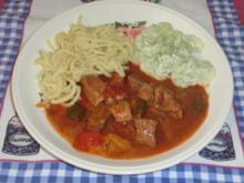 Scharfer Gulasch - Rezept