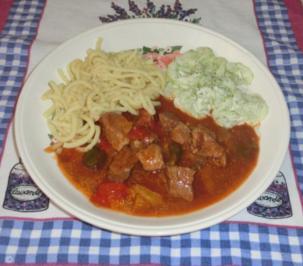Rezept: Scharfer Gulasch
