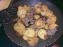 Dreierlei Kartoffelgröstl - nichts für Vegetarier!!! - Rezept