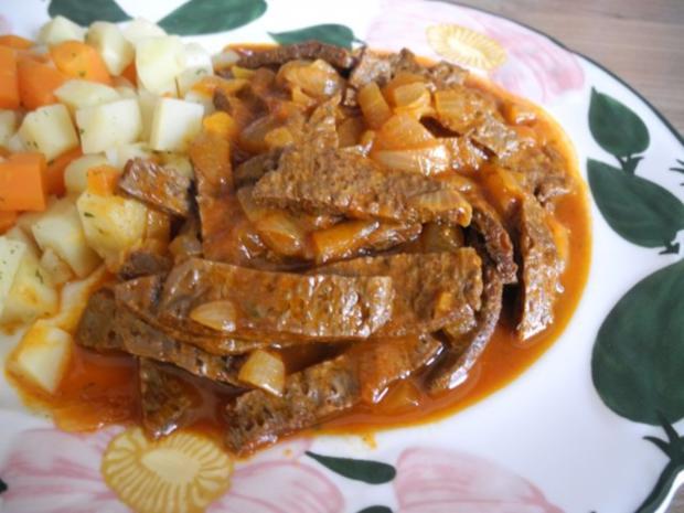 Vegan : Soja - Gulasch an Gemüse - Rezept - Bild Nr. 2