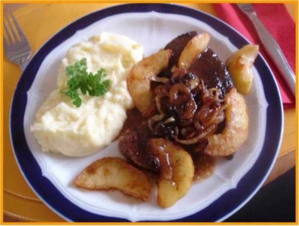Kalbsleber nach Berliner Art mit Kartoffelpüree - Rezept