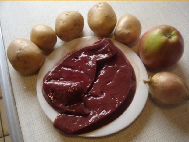 Kalbsleber nach Berliner Art mit Kartoffelpüree - Rezept - Bild Nr. 2