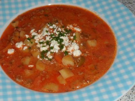 "Suppen/Eintöpfe: Bunter Hack-Gemüse-Eintopf ""Querbeet"" - Rezept"