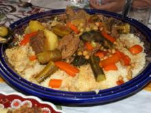 Couscous mit Rindfleisch und Gemüse - Rezept