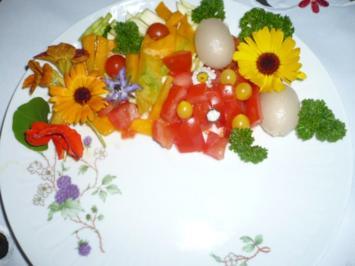 Rezept: Pellkartoffeln, Tofupfanne, Rohkost