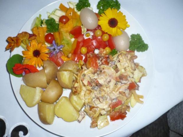 Pellkartoffeln, Tofupfanne, Rohkost - Rezept - Bild Nr. 3