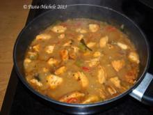 Putengulasch mit grüner Thai Curry Sauce - Rezept