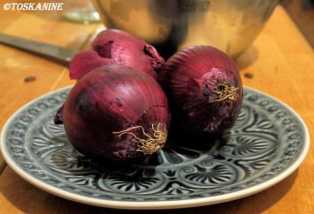 Tarte mit Rotwein-Balsamico-Zwiebeln - Rezept - Bild Nr. 4