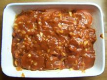 Putensteaks mit Champignons, Tomaten in Chilisoße überbacken - Rezept