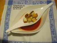 schnelle heiße Tomaten - Grapefruit Suppe mit Pesto Schnitte - Rezept - Bild Nr. 2