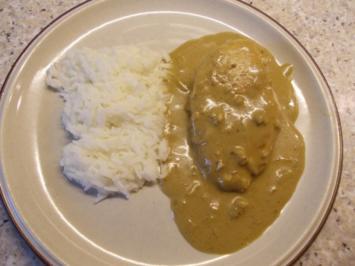 Hähnchenbrust in Kokos-Curry-Soße - Rezept