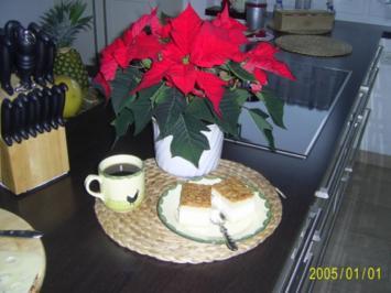 Kuchen: Bienenstich mit Vanille-Creme-Füllung - Rezept