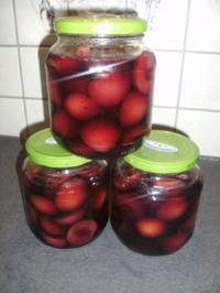 Rotweinpflaumen mit Rum - Rezept
