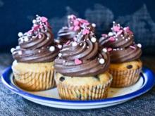 Vanille-Schoko Cup Cakes - Rezept