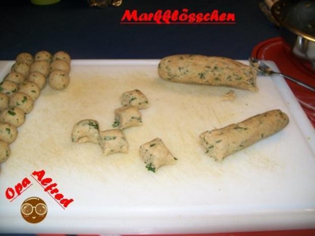 Suppeneinlagen; Opa Alfred`s Feine Marklösschen - Rezept - Bild Nr. 3