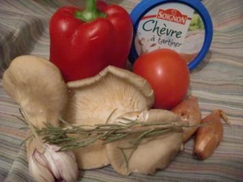 Austernpilze mit Paprika und Tomate - Rezept