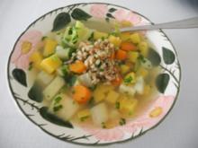 Vegan : Gemüseeintopf mit Dinkel - Rezept