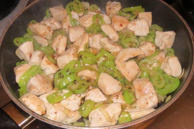 Kochen: Chilli-Hähnchen-Pfanne - Rezept - Bild Nr. 3