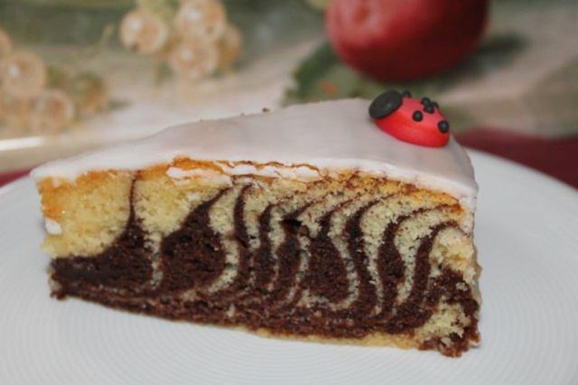 Zebrakuchen Mit Teig Und Eiweiss Rezept Mit Bild Kochbar De