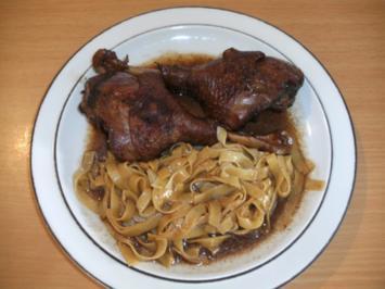 Fleisch: Gänse-Unterkeule geschmort - Rezept