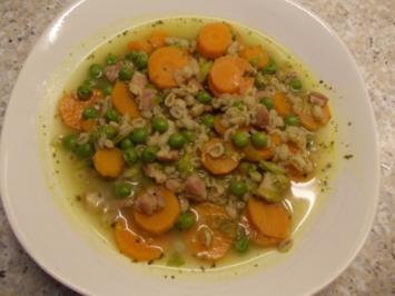Dinkelsuppe mit Dörrfleisch und Gemüse - Rezept