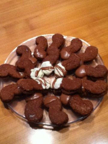 Schokoladen Weihnachtskekse.Weihnachtsplätzchen Feine Schokostangen