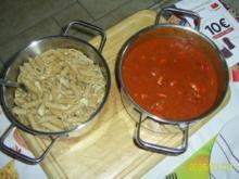 Pasta: Vollkorn-Nudeln mit Wurstgulasch - Rezept