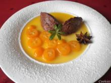 Gewürz - Schoko - Mousse mit Kumquats - Kompott ... - Rezept
