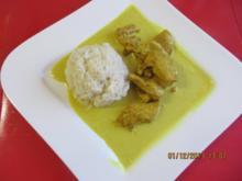Kochen: Curry-Hähnchen mit Reis - Rezept