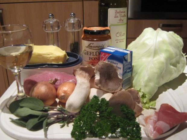 Schweinemedaillons mit Spitzkohl - Rezept - Bild Nr. 2