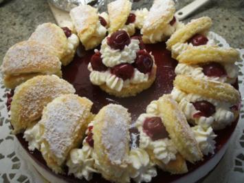 Backen: Mascarpone-Quark-Torte mit Sauerkirschen - Rezept