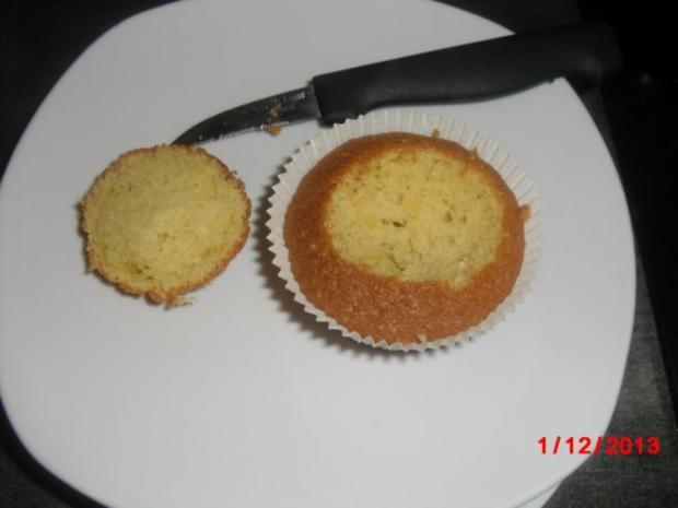 Muffin schwarz/weiß mit Johannisbeer-Gelee - Rezept - Bild Nr. 2