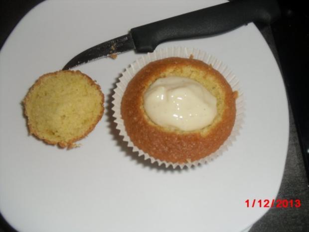 Muffin schwarz/weiß mit Johannisbeer-Gelee - Rezept - Bild Nr. 5
