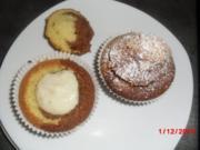 Muffin schwarz/weiß mit Johannisbeer-Gelee - Rezept