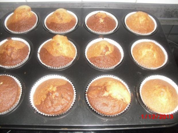Muffin schwarz/weiß mit Johannisbeer-Gelee - Rezept - Bild Nr. 6