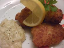 Mini Fischfrikadellen mit Zwiebelkompott (nordjyske mini fiskefrikadeller med løgkompot) - Rezept