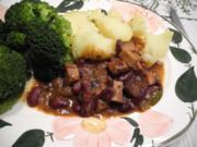 Vegan : Bohnen - Tofu - Gulasch - Rezept