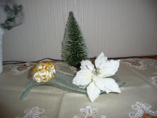 Weihnachtliche Frischkäsepraline - Rezept