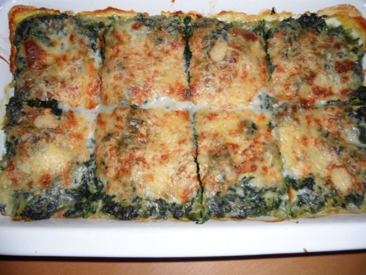spinat mozarella lasagne rezept mit bild. Black Bedroom Furniture Sets. Home Design Ideas