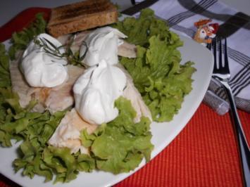 Forellenfilet mit Estragonsahne>> - Rezept
