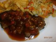 Monkey Gland Steak mit Chakalaka-Krautsalat - Rezept