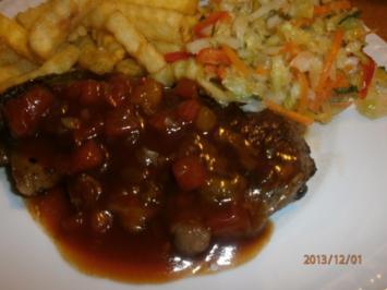 Rezept: Monkey Gland Steak mit Chakalaka-Krautsalat
