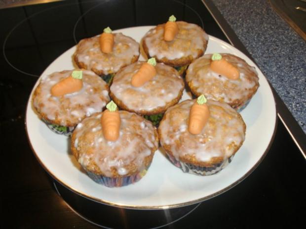 Apfel - Karottenmuffins - Rezept