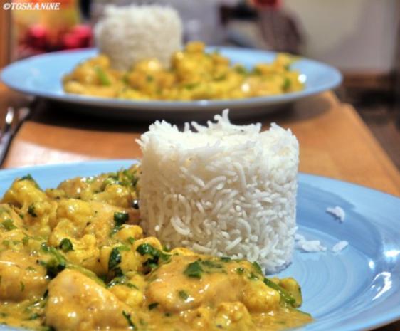 Curry mit Hähnchen, Blumenkohl und Zuckerschoten - Rezept - Bild Nr. 13