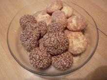 Weihnachten: Schokoladen-Sesam-Plätzchen - Rezept