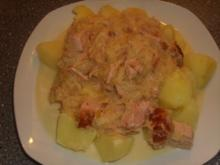 Ananas-Sauerkraut mit Kasseler und Sahne - Rezept