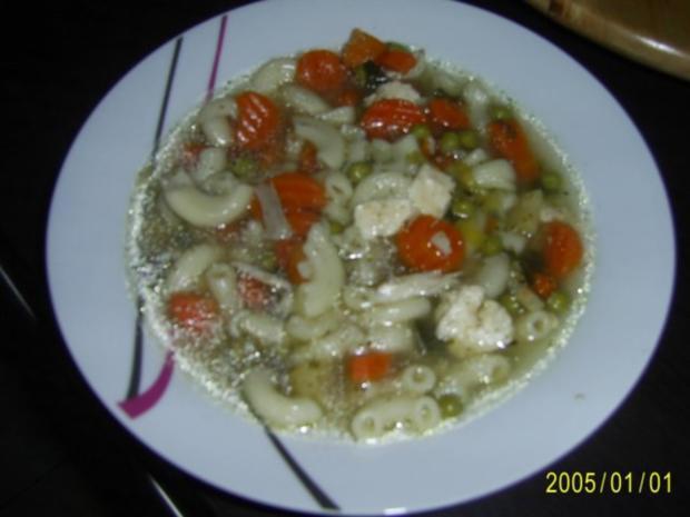Suppen & Eintöpfe: Nudelsuppe mit knackigem Gemüse - Rezept - Bild Nr. 13