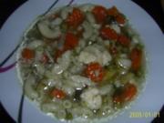 Suppen & Eintöpfe: Nudelsuppe mit knackigem Gemüse - Rezept