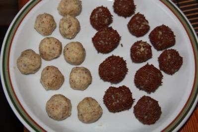 Rumkugeln aus Weiser Schokolade - Rezept